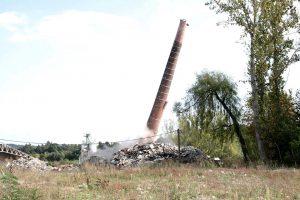 Sprengen am Bau - Abbruchsprengung